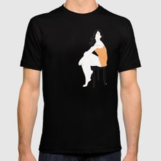 Sexy Woman Mens Fitted Tee MEDIUM Black