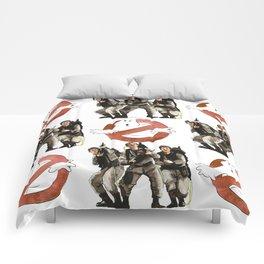 Vintage Ghostbusters Fan Art Illustration Comforters