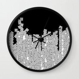 Minimalist black / White geometric Wall Clock