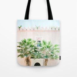 """Travel photography print """"Magical Marrakech"""" photo art made in Morocco. Pastel colored. Tote Bag"""