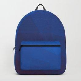 azure gradient polygon background Backpack