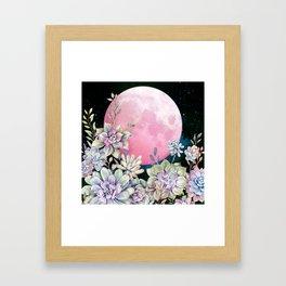 succulent full moon 3 Framed Art Print
