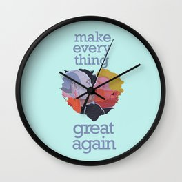 Make Everything Great Again | Trump & Putin in Love Wall Clock