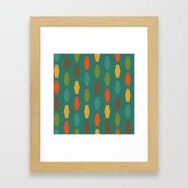 Colima - Teal Framed Art Print