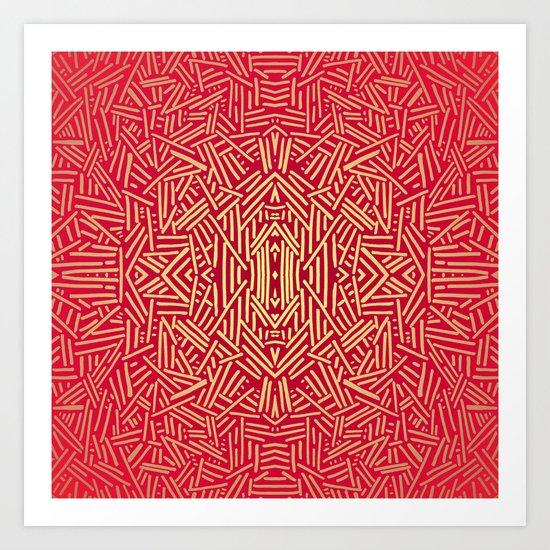 Radiate (Red Yellow Ochre non-metallic) Art Print