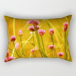 Wildflowers in Gold Rectangular Pillow