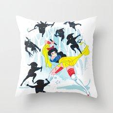 Tales of a Snow Geisha Throw Pillow
