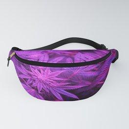 Hemp Cannabis 420 Stoner Hippy Trippy Pot Leaf Print Fanny Pack