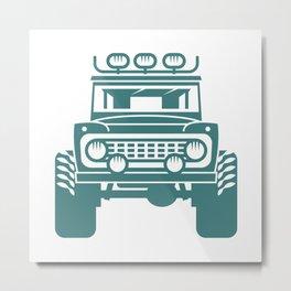 Off-road car.  Metal Print