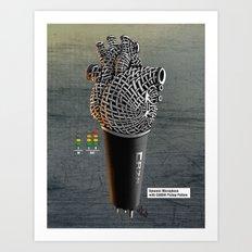 CRZN Dynamic Microphone Art Print