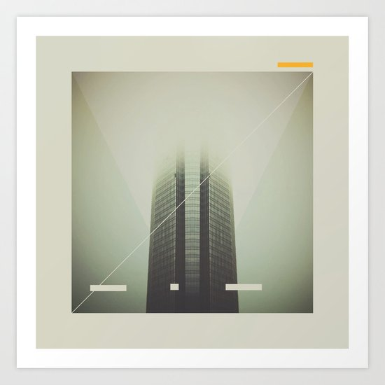 Devon Tower Divided By Fog Art Print