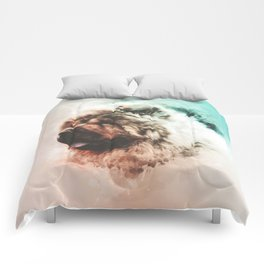 Chow Chow Digital Watercolor Painting Comforters