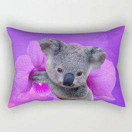 Koala and Orchid Rectangular Pillow