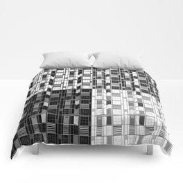 Fun Black-Cuadricula Comforters