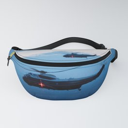Support Helicopters Fly at Dusk Fanny Pack