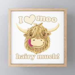 Wee Hamish Loves Moo Hairy Much! Framed Mini Art Print