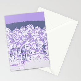 Lavender Mod Trees Stationery Cards