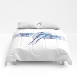 Blue Parus Major Comforters