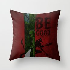 Left of Krampus Throw Pillow
