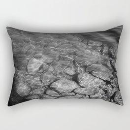 Under Water (Black and White) Rectangular Pillow
