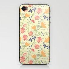 Autumn Floral Pattern iPhone & iPod Skin