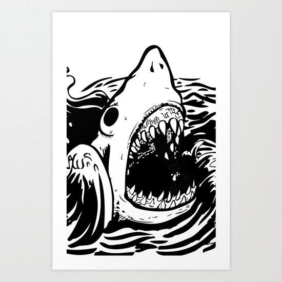 Shark off Art Print