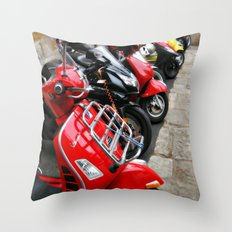 Scooters Throw Pillow