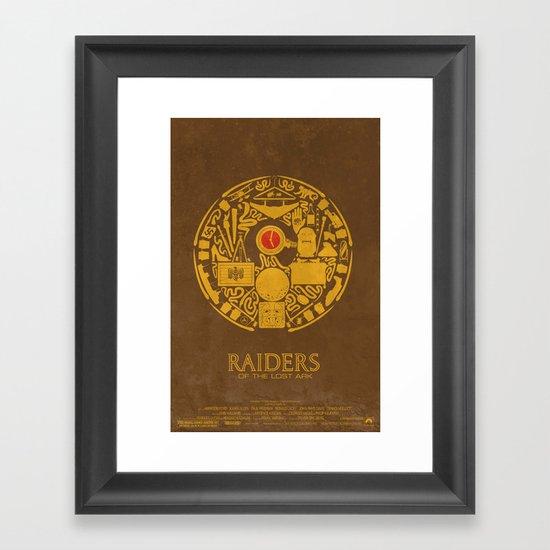 Raiders of the Lost Ark Poster Framed Art Print