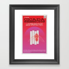 The Cicada Sessions Concert Poster Framed Art Print