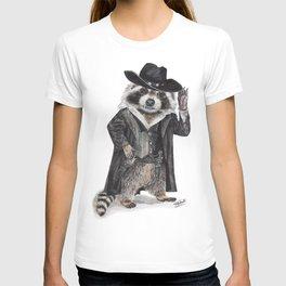 """"""" Raccoon Bandit """" funny western raccoon T-shirt"""