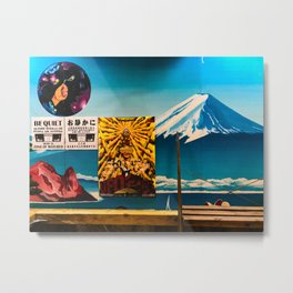 Mt. Fuji in Shopping Arcade, Osaka, Japan 2019 Metal Print