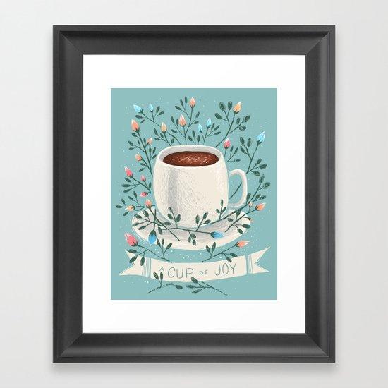 A Cup Of Joy Framed Art Print