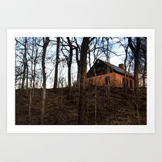 House on Hill Art Print