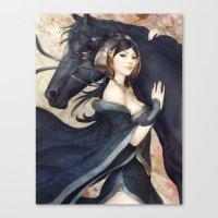 artgerm Canvas Prints featuring Pepper Empress by Artgerm™