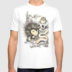 Haunters of the Waterless SMALL Mens Fitted Tee White