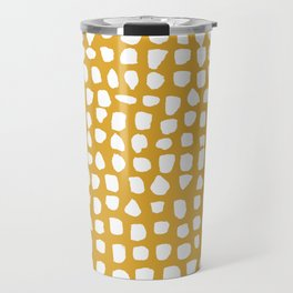 Dots / Mustard Travel Mug