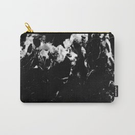 Black Marble #9 #decor #art #society6 Carry-All Pouch