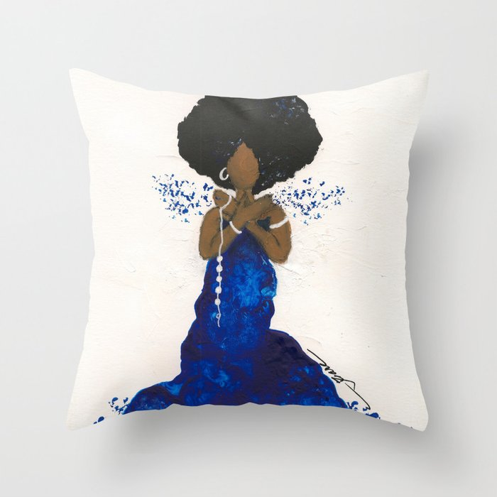 5 Pearls Throw Pillow