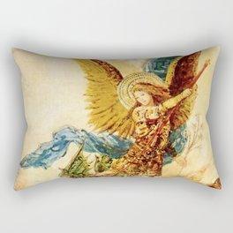"Gustave Moreau ""Saint Michael"" Rectangular Pillow"