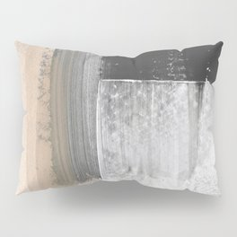 Beige and Grey Colorblock Textured Abstract Painting Pillow Sham