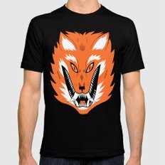Cursed Fox Mens Fitted Tee Black LARGE