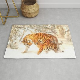 Siberian Amur Tigers Rug