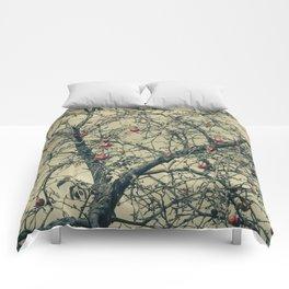 Red Apples in Empty Garden Comforters