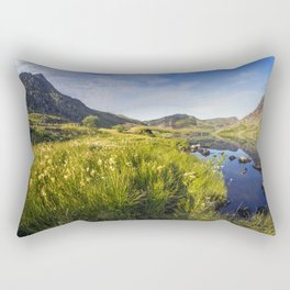 Llyn Ogwen and Tryfan Rectangular Pillow