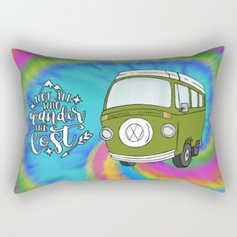 Camper Bus Not All Who Wander Are Lost Rectangular Pillow
