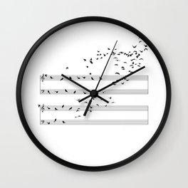 Natural Musical Notes Wall Clock