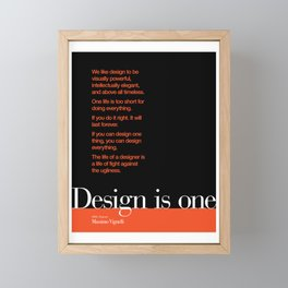Design is One — Honoring Massimo Vignelli Framed Mini Art Print