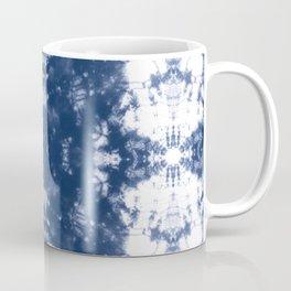 Shibori Tie Dye 2 Indigo Blue Coffee Mug