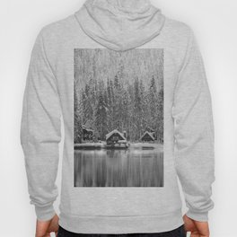 Cabin on the Water (Black and White) Hoody