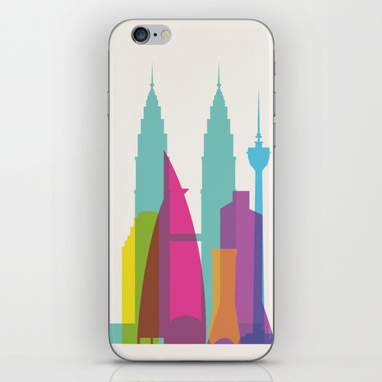 Shapes of Kuala Lumpur. Accurate to scale iPhone & iPod Skin